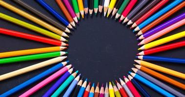 Color Pencils top view stop motion. video