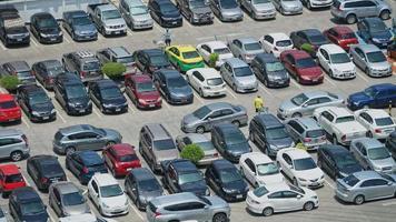 lapso de tempo em um estacionamento video