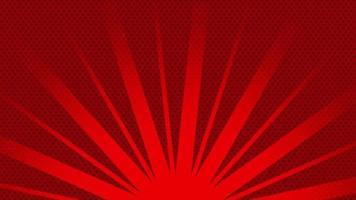 rote Lichtstrahlen, die sich im strukturierten Hintergrund drehen