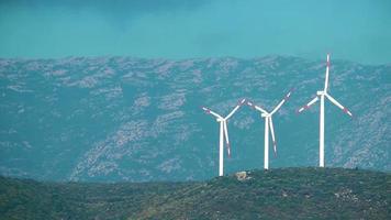 molino de energía de turbina eólica video