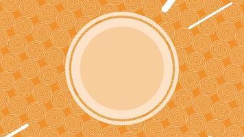 um círculo laranja pulsante em um fundo laranja escuro