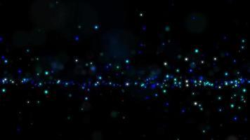 partículas cintilantes abstratas ondulando em um espaço tridimensional