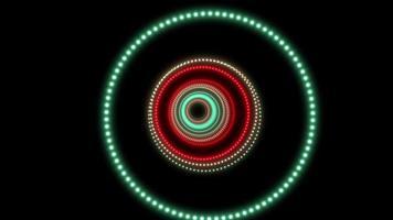 fundo de festa disco com círculos brilhantes