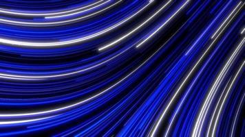 brilho futurista linha azul e branca curva de fundo