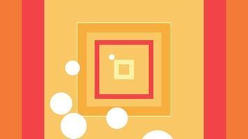 volando a través de cajas naranjas y rojas, efecto infinito