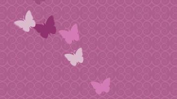 borboletas voando em um fundo rosa