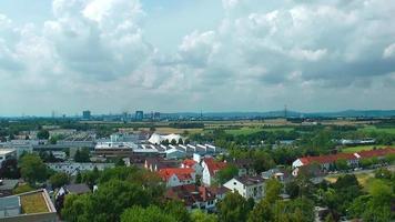 vista panorâmica de frankfurt e lapso de tempo das nuvens video