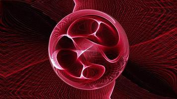 astratto ciclo tecnologia sfondo rosso incandescente sfera di energia