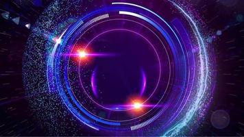 eine Linse, die auf einem violettschwarzen Hintergrund funkelt - Grafiken