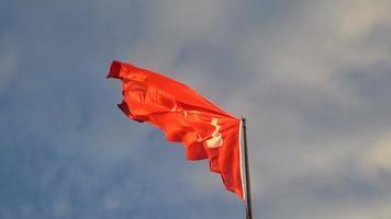 bandeira turca balançando com o vento video