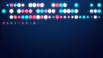 animação de círculos de luz multicoloridos em tela inteira