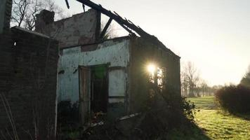 Sunrise at an abandoned building