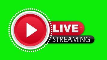 grünes Hintergrundvideo mit Live-Streaming-Text video