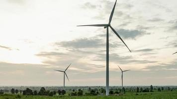 Wind turbine farm video