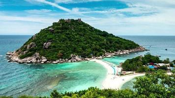 Tropical beach paradise, Koh Nang Yuan Island, Thailand video