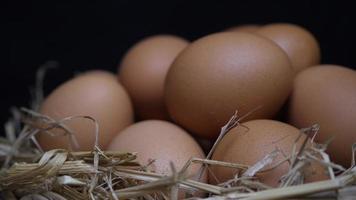 a rotação do ovo de galinha em uma cesta