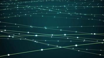 abstrakter Hintergrund mit digitalen Wellen von Partikeln