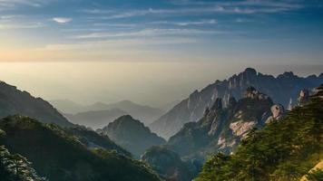 Huangshan Bergblick, China. video