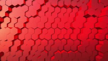 Fundo de animação hexágono 3D