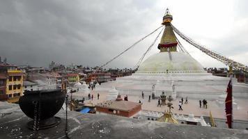 pagode boudhanath em kathmandu, nepal. video