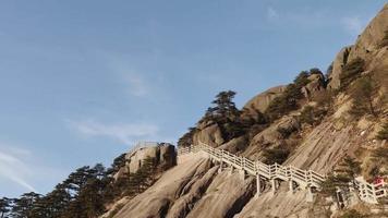 hermosa escena en la montaña amarilla huangshan, china