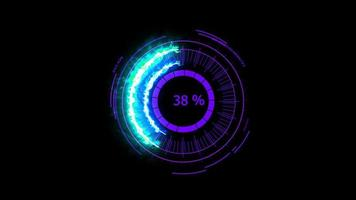 energía de potencia del medidor digital púrpura