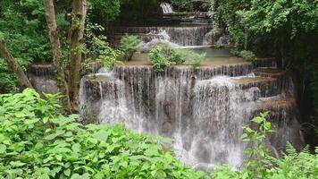 Beautiful waterfall in tropical rain forest, Thailand. video