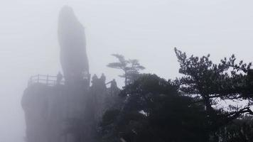 Amazing Time-Lapse Scene Of Mist Moving In Huangshan, China