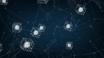 conceito de rede blockchain