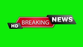 Breaking News Headlines on Green Screen
