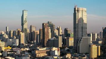 vista de Banguecoque na hora de ouro, Tailândia. video