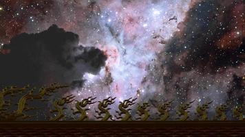 nebulosa voltando ao céu noturno video
