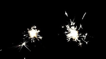 fogos de artifício brilhantes de varinha video