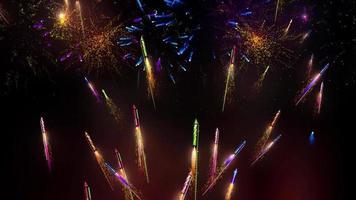 fundo de animação de fogos de artifício video