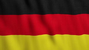 Realistic Germany Flag waving in wind background