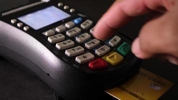 máquina de tarjeta de crédito video