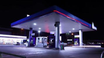 lapso de tempo do tráfego do posto de gasolina