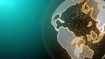 holograma de terra futurista