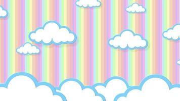 dibujos animados de nubes animadas en el cielo