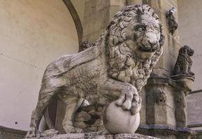 Leones medici de Florencia, Italia.