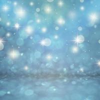 Blue glitter bokeh photo