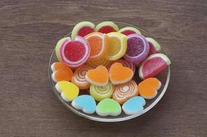 caramelo dulce en forma de corazón foto