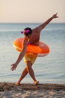 Man in a floatie photo