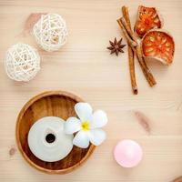 Spa products with herbs photo