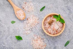 Himalayan pink salt photo