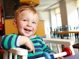 Child in a restaurant