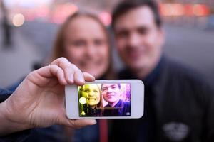 Happy couple taking a selfie