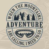 Vintage Adventure Mountain Design