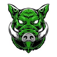 boar head mascot vector