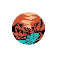 adventure art landscape graphic design